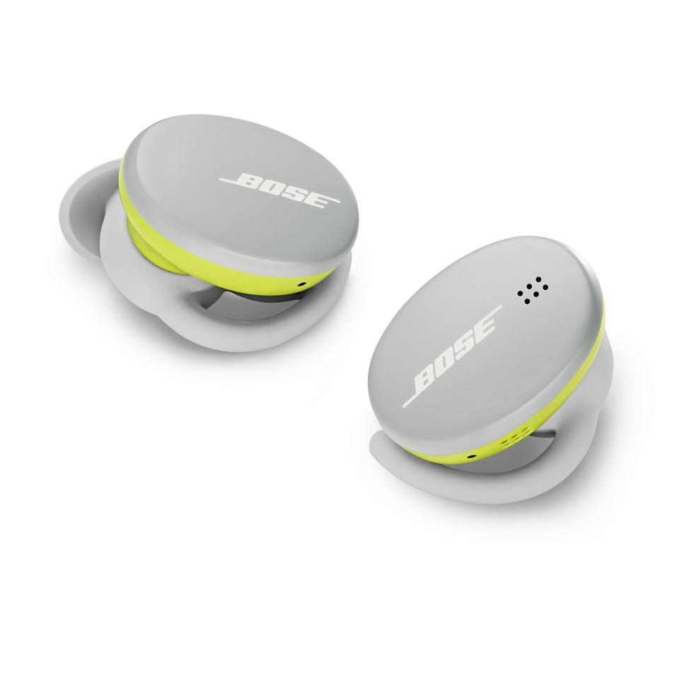 "<p><strong>Bose</strong></p><p>amazon.com</p><p><strong>$179.00</strong></p><p><a href=""https://www.amazon.com/dp/B08CJFYBBZ?tag=syn-yahoo-20&ascsubtag=%5Bartid%7C2089.g.1545%5Bsrc%7Cyahoo-us"" rel=""nofollow noopener"" target=""_blank"" data-ylk=""slk:Shop Now"" class=""link rapid-noclick-resp"">Shop Now</a></p><p>The Bose Sport wireless earbuds, as their name suggests, are the brand's best option for exercising, replacing the venerable <a href=""https://www.bestproducts.com/tech/a28650115/bose-soundsport-free-truly-wireless-earbuds-review/"" rel=""nofollow noopener"" target=""_blank"" data-ylk=""slk:SoundSport Free buds"" class=""link rapid-noclick-resp"">SoundSport Free buds</a>. They have a lightweight build with an IPX4 rating for water resistance, a seamless fit, and a powerful sound with enhanced low range. <a href=""https://www.cnet.com/news/bose-sport-earbuds-review-excellent-sound-and-fit-with-one-downside/"" rel=""nofollow noopener"" target=""_blank"" data-ylk=""slk:Experts agree"" class=""link rapid-noclick-resp"">Experts agree</a> that that buds' best features are their fit and sound, setting them <a href=""https://www.bestproducts.com/tech/gadgets/a15385022/reviews-sports-headphones-for-running-workouts/"" rel=""nofollow noopener"" target=""_blank"" data-ylk=""slk:above the rest"" class=""link rapid-noclick-resp"">above the rest</a>.<br></p><p>You can expect up to 5 hours of battery life from the Bose Sport between charges and their bundled battery case provides an additional 10 hours of wireless tunes. Users can also connect the SoundSport Wireless to a mobile app and tweak their controls.</p><p>Compared to the pricier Bose QuietComfort wireless earbuds, the Bose Sport lack noise-canceling tech and a wireless charging-compatible case. Their battery life is also a bit shorter. </p><p>Bose offers the buds in triple black, glacier white with neon green accents, and Baltic blue. <br></p>"