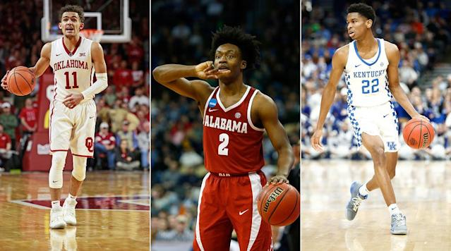 Who is the best guard prospect in the NBA draft? The Front Office examines three players who who could be picked in the lottery: Oklahoma's Trae Young, Kentucky's Shai Gilgeous-Alexander or Alabama's Collin Sexton.