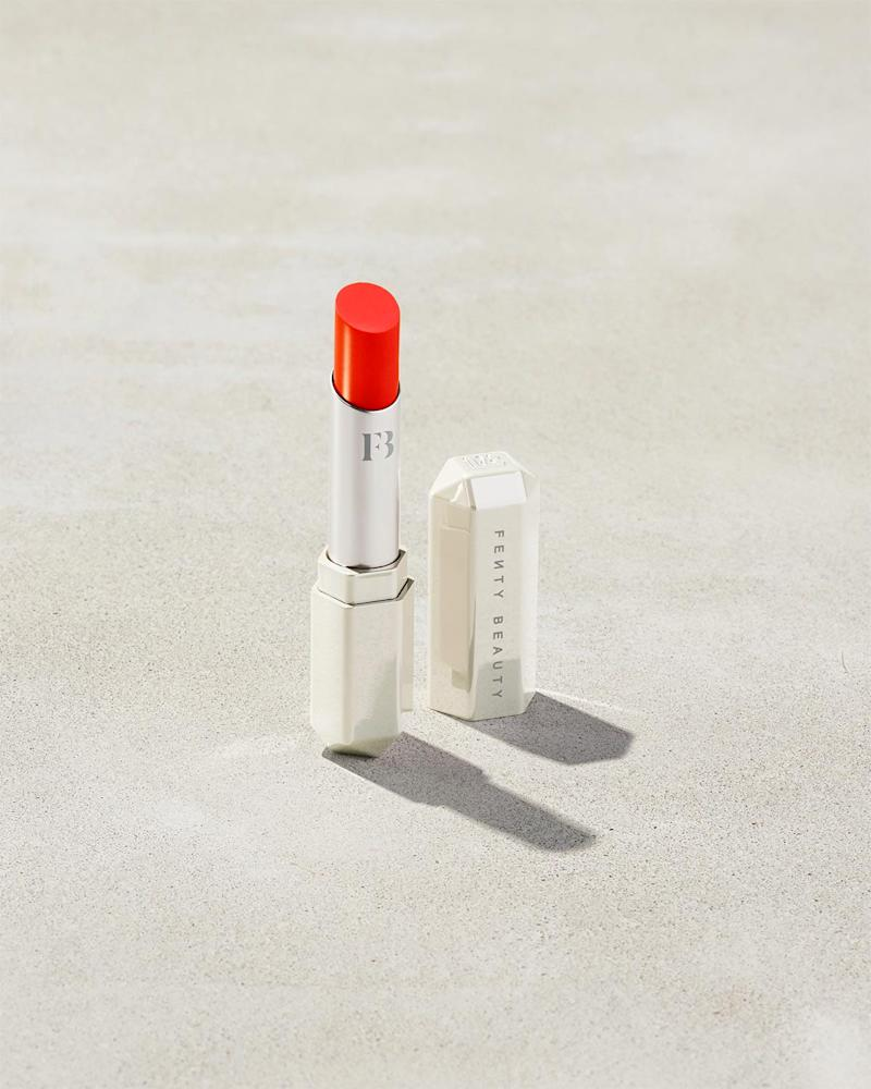 Slip Shine Sheer Shiny Lipstick in Tang Thang. Image via Fenty Beauty.