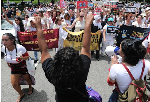 "<p>Hundreds of women and immigration activists march to the U.S. Capitol as part of a rally calling for ""an end to family detention"" and in opposition to the immigration policies of the Trump administration, in Washington, D.C., June 28, 2018. (Photo: Jonathan Ernst/Reuters) </p>"