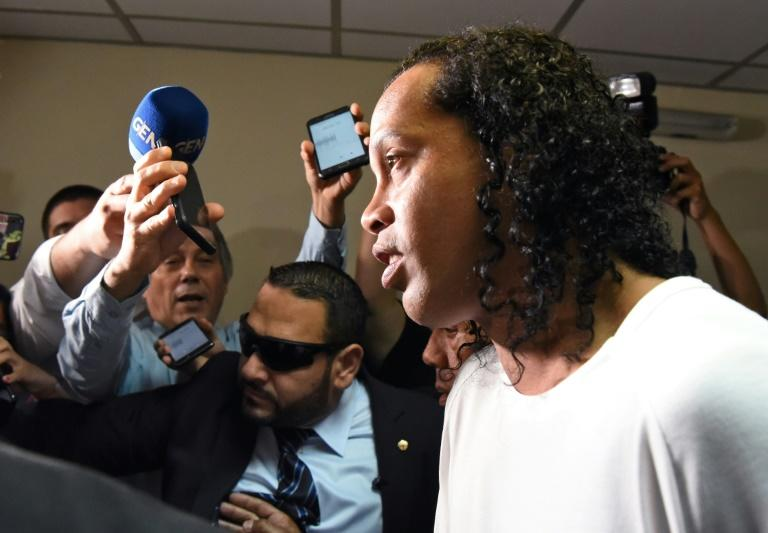 Brazilian authorities revoked Ronaldinho's passport in late 2018 after he failed to pay a $2.5 million fine for building a pier in a protected lake