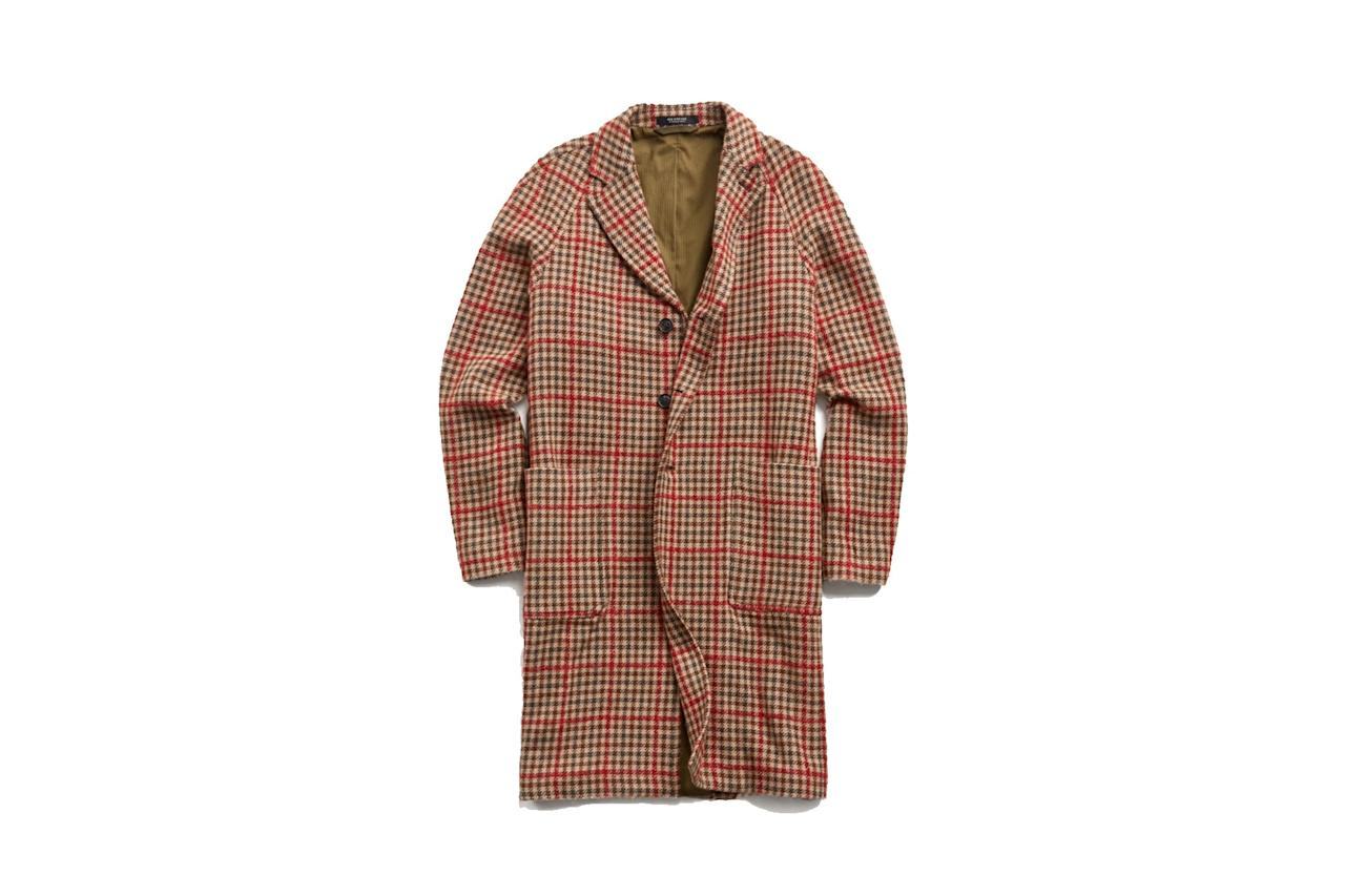 "$998, Todd Snyder. <a href=""https://www.toddsnyder.com/collections/outerwear/products/tweed-windowpane-topcoat-red"">Get it now!</a>"