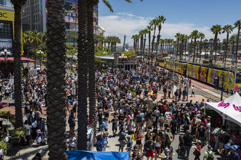 SAN DIEGO, CALIFORNIA - JULY 21: General view of the atmosphere outside 2019 Comic-Con International on July 21, 2019 in San Diego, California. (Photo by Daniel Knighton/Getty Images)