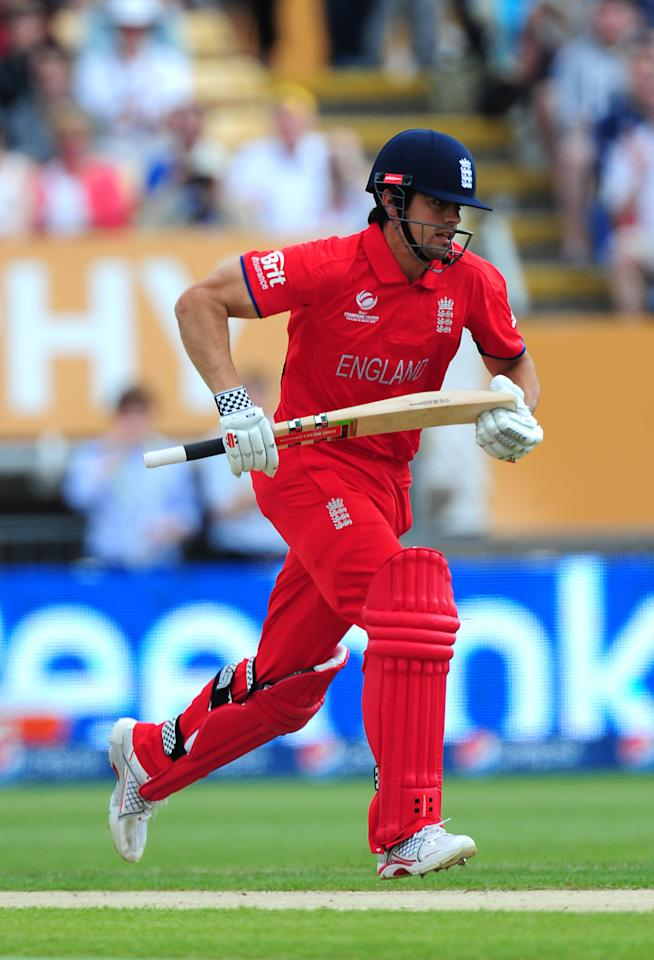 England's Alastair Cook during the ICC Champions Trophy match at Edgbaston, Birmingham.