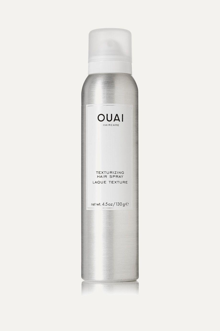 """<p><strong>Ouai Haircare</strong></p><p>net-a-porter.com</p><p><strong>$26.00</strong></p><p><a href=""""https://go.redirectingat.com?id=74968X1596630&url=https%3A%2F%2Fwww.net-a-porter.com%2Fen-us%2Fshop%2Fproduct%2Fouai-haircare%2Ftexturizing-hair-spray-130g%2F766636&sref=https%3A%2F%2Fwww.countryliving.com%2Flife%2Fentertainment%2Fg36701989%2Froyal-family-fashion-hacks-style-tricks%2F"""" rel=""""nofollow noopener"""" target=""""_blank"""" data-ylk=""""slk:shop now"""" class=""""link rapid-noclick-resp"""">shop now</a></p><p>Crunchy hair is sooo '80s. For a strong hold that feels natural and soft, try this option from Jen Atkin's line Ouai.</p>"""
