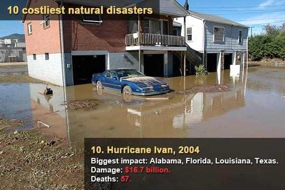 10 costliest natural disasters - Hurricane Ivan