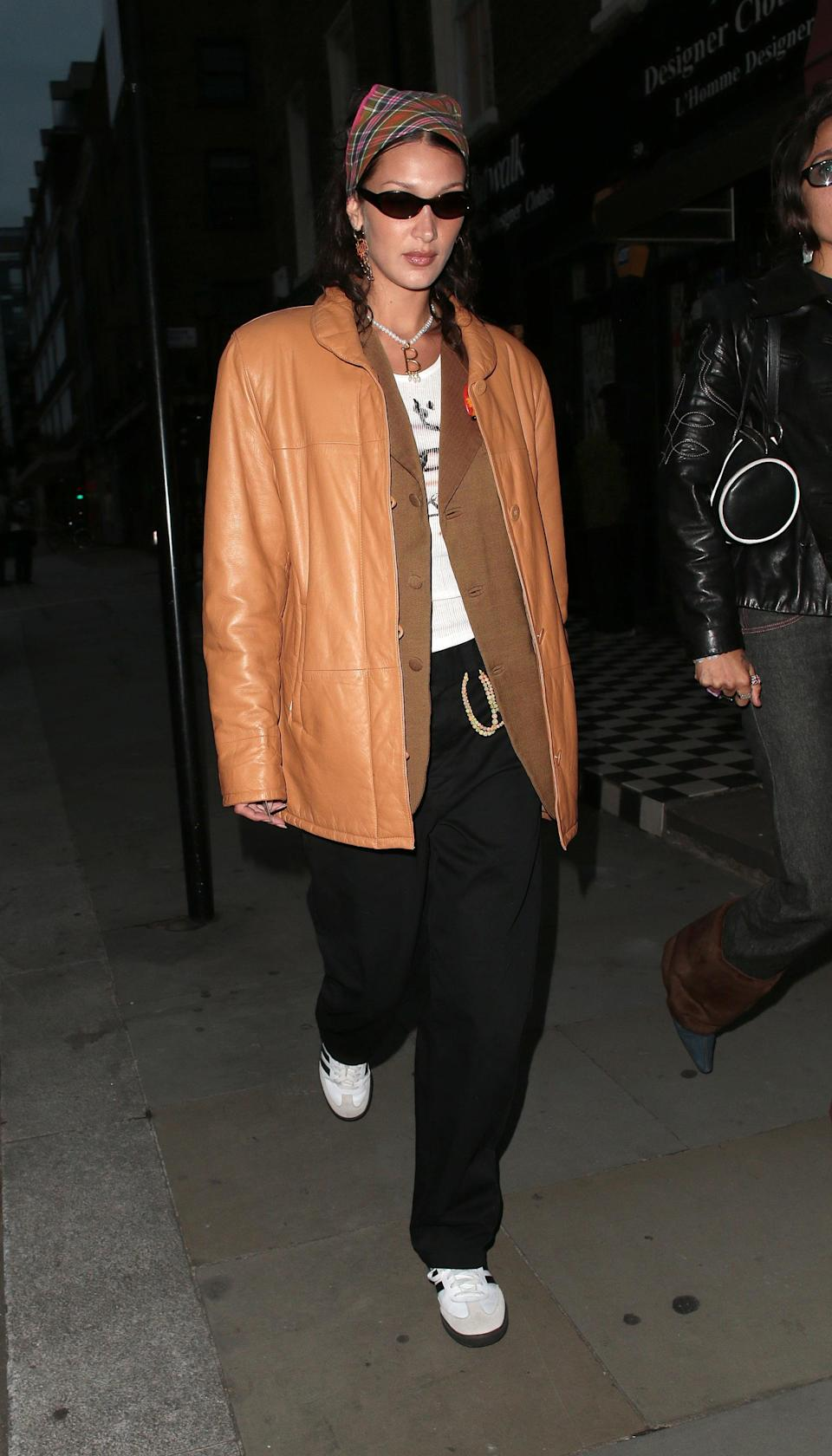 <p>Bella Hadid popped up, giving us all the fall street style inspiration we need. </p>