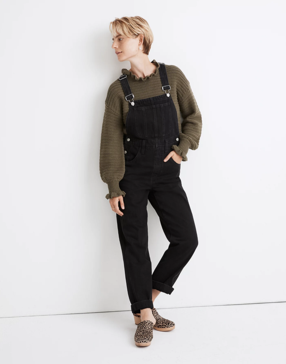 """<br><br><strong>Madewell</strong> Straight-Leg Overalls in Lunar Wash, $, available at <a href=""""https://go.skimresources.com/?id=30283X879131&url=https%3A%2F%2Fwww.madewell.com%2Fstraight-leg-overalls-in-lunar-wash-MA793.html"""" rel=""""nofollow noopener"""" target=""""_blank"""" data-ylk=""""slk:Madewell"""" class=""""link rapid-noclick-resp"""">Madewell</a>"""