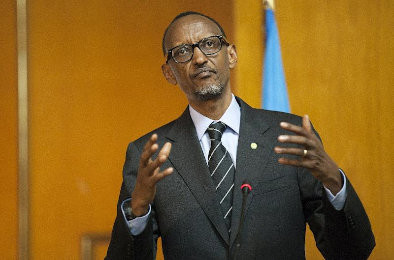 The United States condemned a decision by Rwandan lawmakers to amend their constitution to allow President Paul Kagame, pictured April 15, 2015, to serve a third term