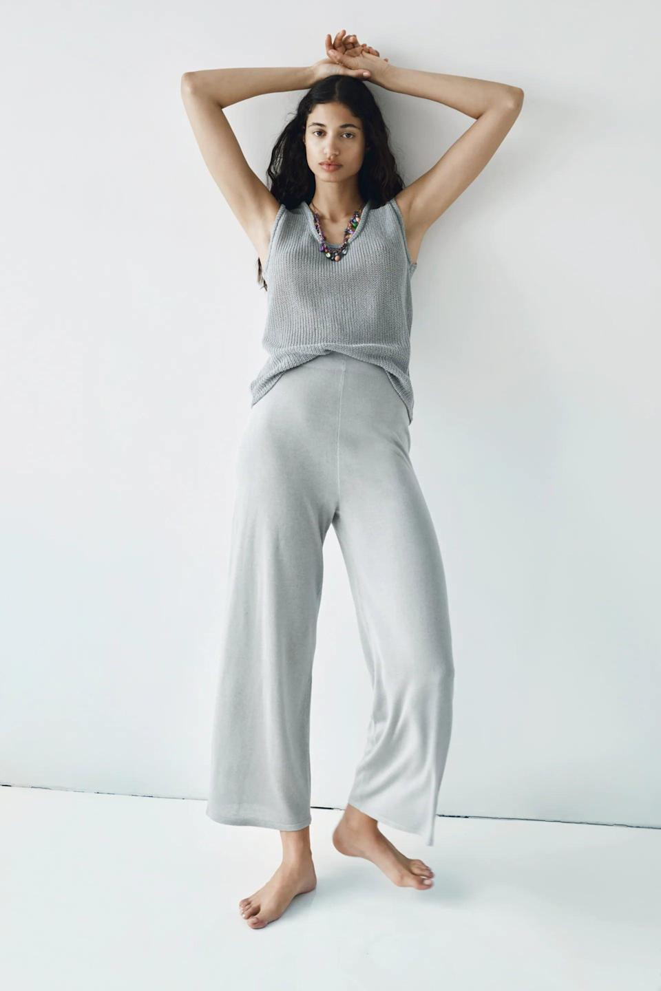 <p>The <span>Zara Wide Leg Knit Pants</span> ($50) and its <span>matching tank</span> are at the top of my wish list.</p>