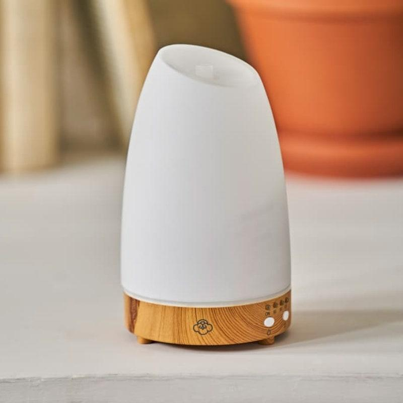 """<p>Serene House's Astro Diffuser offers three different timer settings, so go ahead and set this baby to run for 120 minutes if you tend to be restless at bedtime. The diffuser runs through seven shades of soothing LED light that gently glow through its frosted glass cover for an added chillout effect, and reviewers report that it produces a satisfyingly strong amount of steam for its small stature.</p> <p><strong>$40</strong> (<a href=""""https://shop-links.co/1712736883500424360"""" rel=""""nofollow noopener"""" target=""""_blank"""" data-ylk=""""slk:Shop Now"""" class=""""link rapid-noclick-resp"""">Shop Now</a>)</p>"""