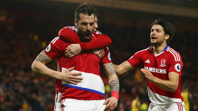 Alvaro Negredo George Friend Middlesbrough