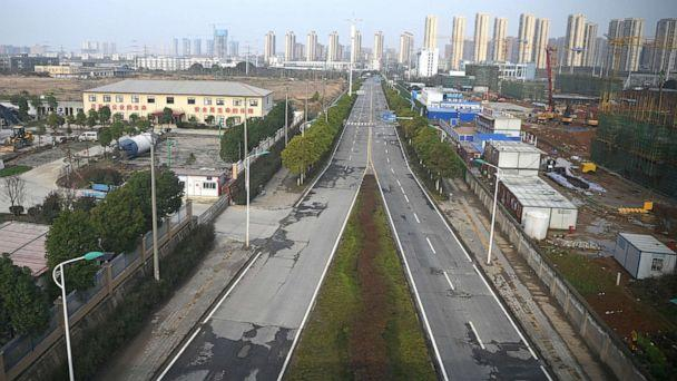 PHOTO: An empty street is seen in Wuhan, China, March 4, 2020. (Noel Celis/AFP via Getty Images)