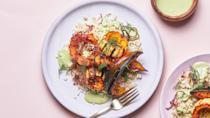 "Oh, and we've got more squash recipes <a href=""https://www.bonappetit.com/gallery/healthy-squash-recipes?mbid=synd_yahoo_rss"" rel=""nofollow noopener"" target=""_blank"" data-ylk=""slk:right here"" class=""link rapid-noclick-resp"">right here</a>. <a href=""https://www.bonappetit.com/recipe/squash-bowls-with-yogurt-sauce-and-frizzled-onions?mbid=synd_yahoo_rss"" rel=""nofollow noopener"" target=""_blank"" data-ylk=""slk:See recipe."" class=""link rapid-noclick-resp"">See recipe.</a>"