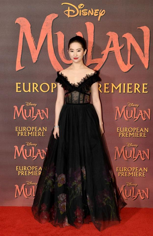 <p><strong>12 March </strong>Liu Yifei looked elegant in a black Elie Saab gown at the Mulan London premiere. </p>