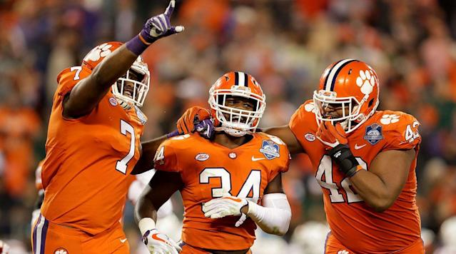 "<p>Clemson held on to its No. 1 spot in the <a href=""https://collegefootball.ap.org/poll"" rel=""nofollow noopener"" target=""_blank"" data-ylk=""slk:final Associated Press Top 25 college football poll"" class=""link rapid-noclick-resp"">final Associated Press Top 25 college football poll</a> of the regular season.</p><p>Alabama moved up to No. 4, ahead of Ohio State, who won the Big Ten title by beating previous undefeated Wisconsin. </p><p>Oklahoma is No. 2, followed by SEC champion Georgia. The country's only undefeated team UCF is No. 10. </p><p>Here is the rest of the AP Top 25:</p><p>1. Clemson<br>2. Oklahoma<br>3. Georgia<br>4. Alabama<br>5. Ohio State<br>6. Wisconsin<br>7. Auburn<br>8. USC<br>9. Penn State<br>10. UCF<br>11. Miami (FL)<br>12. Washington<br>13. TCU<br>14. Notre Dame<br>15. Stanford<br>16. LSU<br>17. Oklahoma State<br>18. Michigan State<br>19. Memphis<br>20. Northwestern<br>21. Washington State<br>22. Virginia Tech<br>23. South Florida<br>24. Mississippi State<br>25. Boise State</p>"