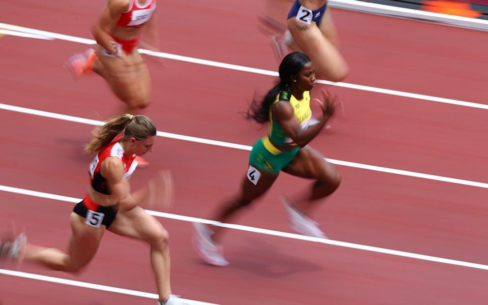 Shelly-Ann Fraser-Pryce won her heat in style - REUTERS