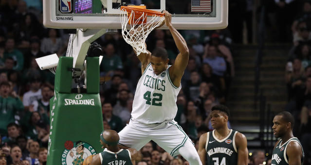 Al Horford can score when he needs to but is known for his defense. (AP)