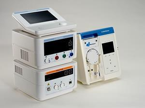 A complete ablation system which includes the smallest footprint of any RF Generator and is comprised of four components: Qubic RF controller, Qubic Force Module, Qubic RF Generator and Qiona Irrigation pump.