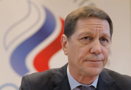 Russian Olympic Committee (ROC) President Alexander Zhukov attends a meeting on the country's participation at the 2018 Pyeongchang Winter Olympics, in Moscow, Russia December 12, 2017. REUTERS/Maxim Shemetov