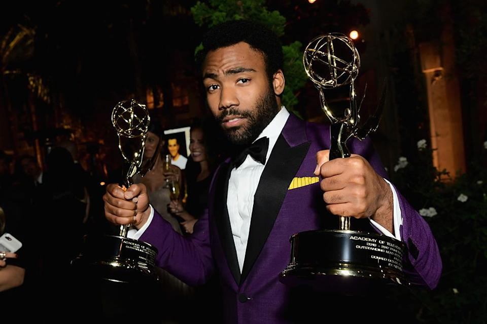 <p>Donald Glover attended the Fox Broadcasting Co., Twentieth Century Fox Television, FX, and <em>National Geographic</em> fete at Vibiana. (Photo: Emma McIntyre/Getty Images) </p>