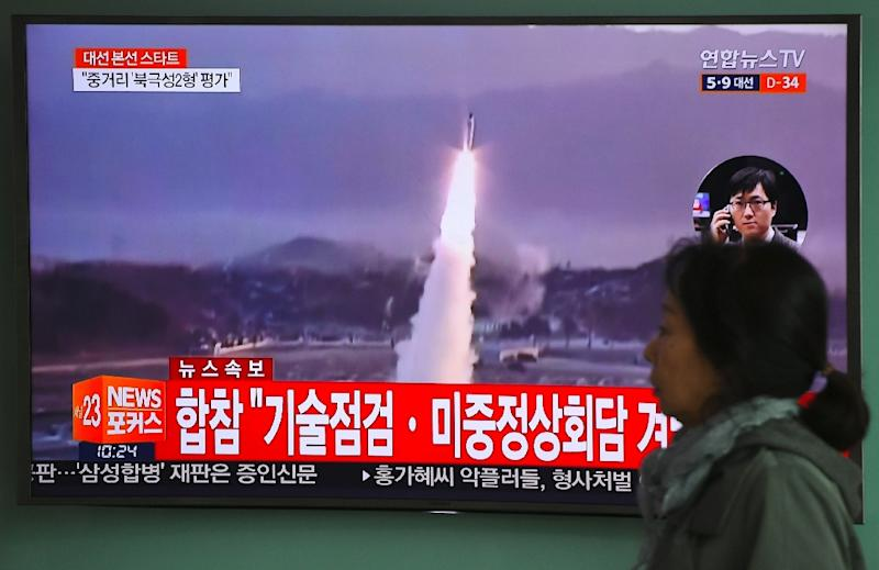 Tensions are high over North Korea's nuclear and missile programmes, with the nation conducting tests and launches as it looks to develop a rocket that can deliver a warhead to the US mainland (AFP Photo/JUNG Yeon-Je)