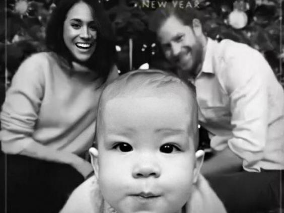 Archie took centre stage on the family's christmas card Sussexroyal/Instagram