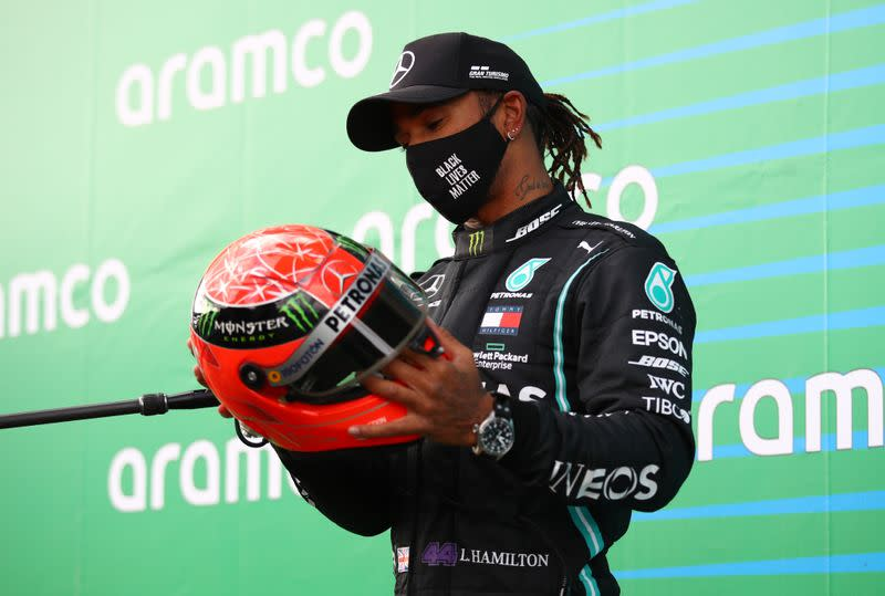 Hamilton goes beyond his wildest dreams with 91st F1 win