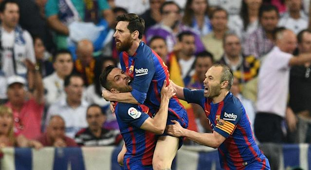 Barcelona star Lionel Messi is optimistic over his side's chances of winning LaLiga following their hard-fought win over Real Madrid.