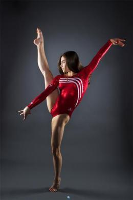 Gymnast McKayla Maroney poses for a portrait during the 2012 U.S. Olympic Team Media Summit in Dallas, May 14, 2012.