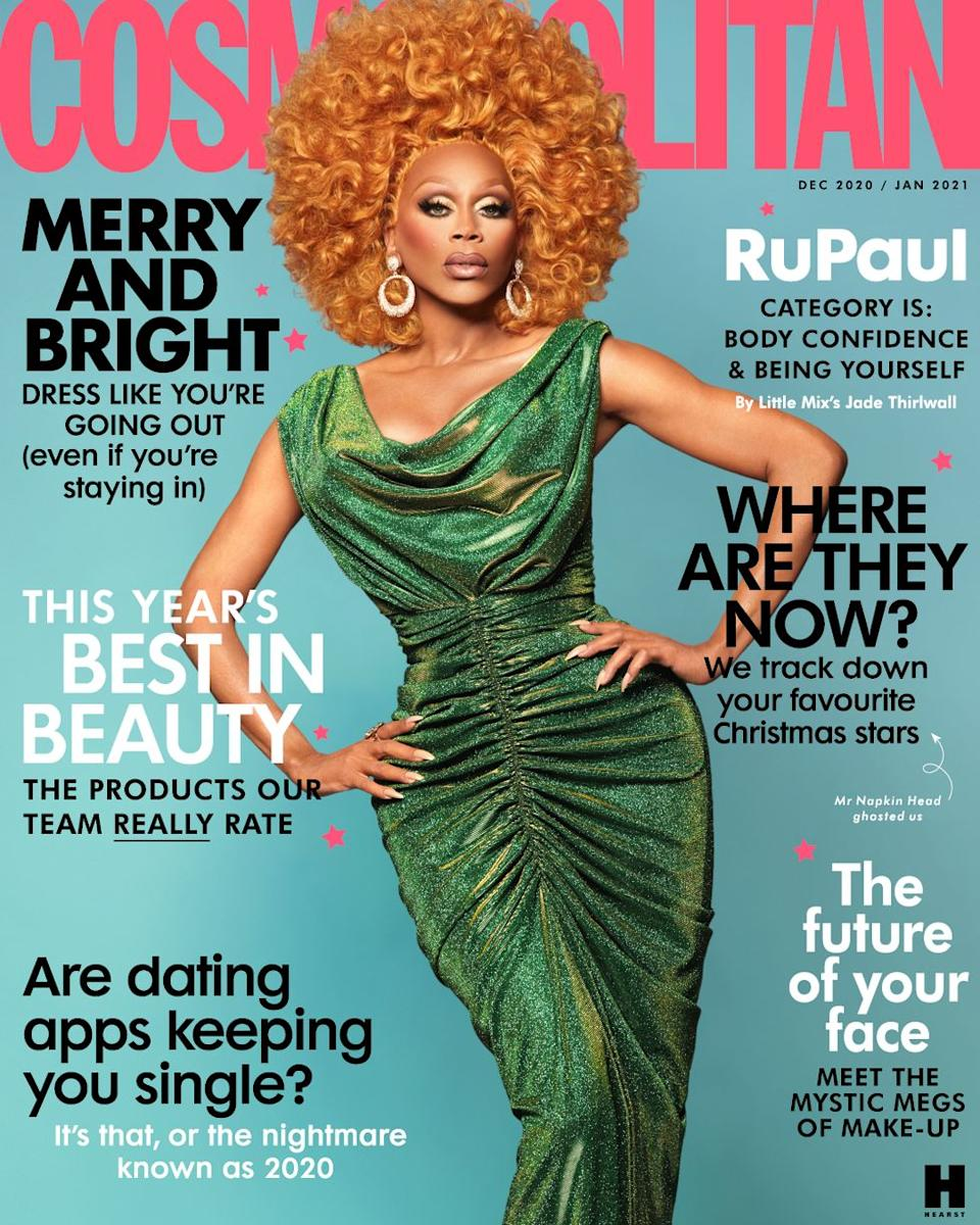 RuPaul on the cover of Cosmpolitan (Photo: ALBERT SANCHEZ AND PEDRO ZALBA/COSMPOLITAN UK)