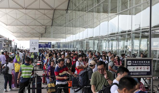 The city's tourist arrivals tumbled about 40 per cent in August. Photo: Sam Tsang
