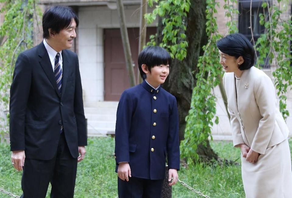 As it stands, the future of the Japanese imperial family rests on 12-year-old Hisahito, the son of Crown Prince Naruhito's younger brother and the last eligible male heir (AFP Photo/Koji Sasahara)