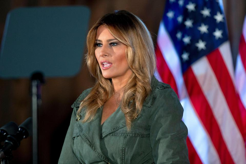Melania Trump says she 'believes in scientists' after the administration's attacks on Dr Anthony Fauci and others. (AP)