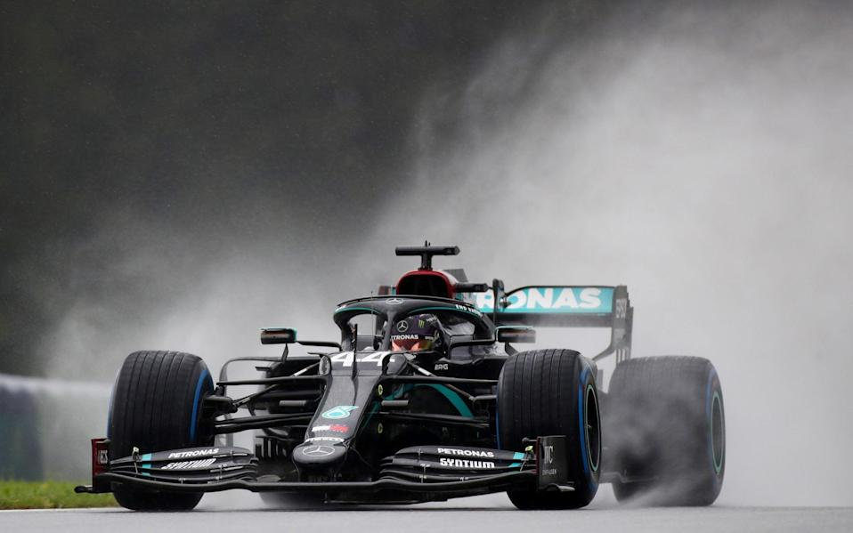 Formula One F1 - Steiermark Grand Prix - Red Bull Ring, Spielberg, Styria, Austria - July 11, 2020 Mercedes' Lewis Hamilton in action during qualifying, following the resumption of F1 after the outbreak of the coronavirus disease - Mark Thompson/Pool via REUTERS