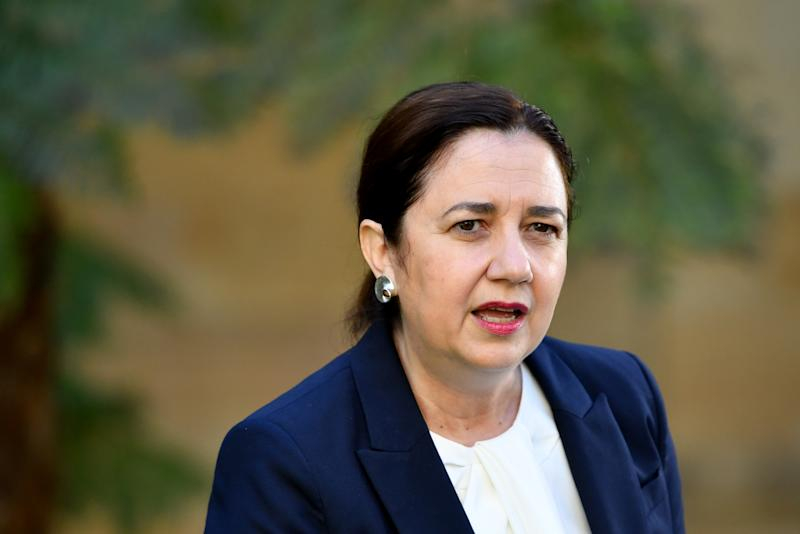Queensland Premier Annastacia Palaszczuk is seen during a press conference at Queensland Parliament House. Source: AAP