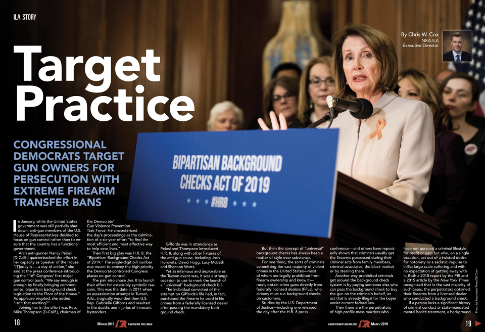 """The NRA is under fire for """"Target Practice"""" spread in the latest issue of its publication. (Photo: American Rifleman)"""