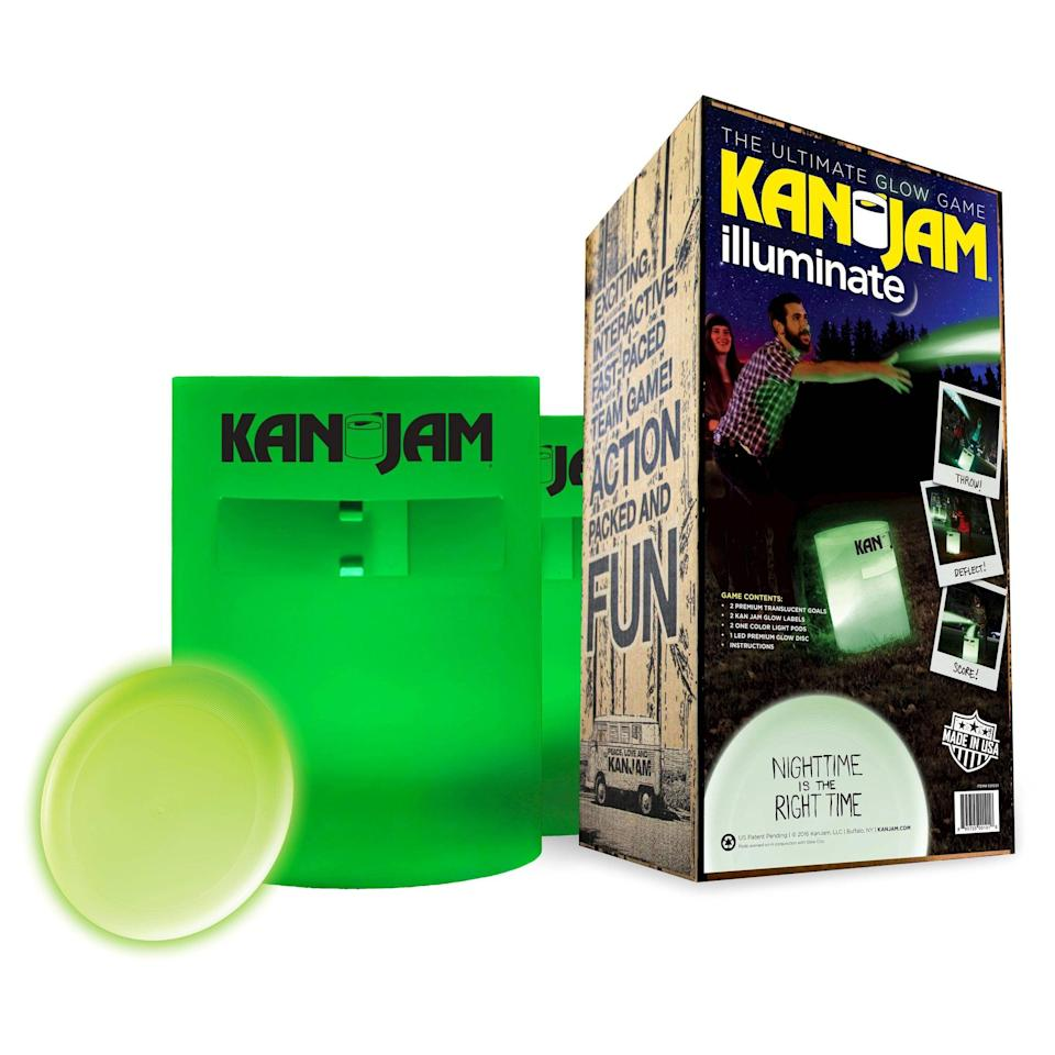<p>This glow-in-the-dark version of <span>Kan Jam</span> ($67) takes the popular game to a new level.</p>