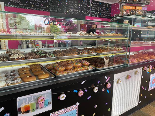 Gourmet options at Frosted Donuts (Yasmeen Sheikah/Patch)