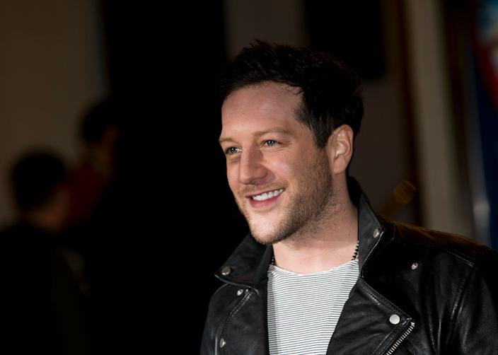 British musician Matt Cardle poses for photographers at the I Can't Sing Press Night, Wednesday, March 26, 2014 in London. I Can't Sing! The X Factor Musical is a new musical comedy written by Harry Hill and produced by Simon Cowell. (Photo by John Phillips/Invision/AP Images)
