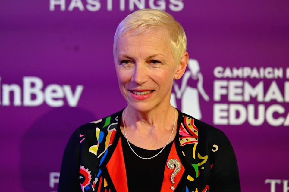"Annie Lennox attends as Campaign For Female Education Celebrates its 25th Anniversary at Inaugural ""Education Changes Everything Gala"" on May 09, 2019 in New York City. (Photo by Nicholas Hunt/Getty Images for CAMFED)"