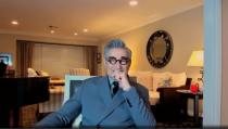 Eugene Levy is seen in this handout screen grab from the 78th Annual Golden Globe Awards in Beverly Hills