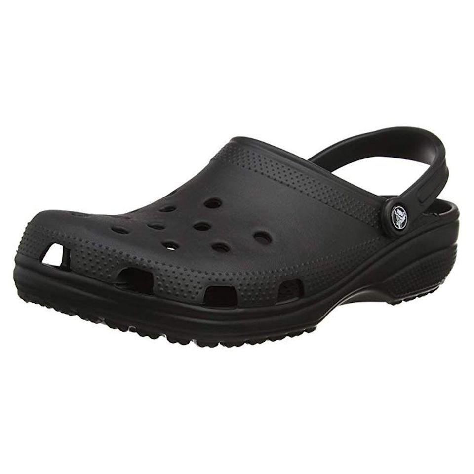 """<p><strong>Crocs</strong></p><p>amazon.com</p><p><a href=""""https://www.amazon.com/dp/B0014BYHGC/ref=dp_cerb_1?tag=syn-yahoo-20&ascsubtag=%5Bartid%7C2089.g.3486%5Bsrc%7Cyahoo-us"""" rel=""""nofollow noopener"""" target=""""_blank"""" data-ylk=""""slk:Shop Now"""" class=""""link rapid-noclick-resp"""">Shop Now</a></p><p>Crocs have really been <a href=""""https://www.bestproducts.com/fashion/g36372659/where-to-buy-crocs/"""" rel=""""nofollow noopener"""" target=""""_blank"""" data-ylk=""""slk:making a comeback"""" class=""""link rapid-noclick-resp"""">making a comeback</a>, with celebrity collaborations happening on a regular basis. There's no shame in wearing Crocs anymore, so why don't you grab yourself a pair right now.</p>"""