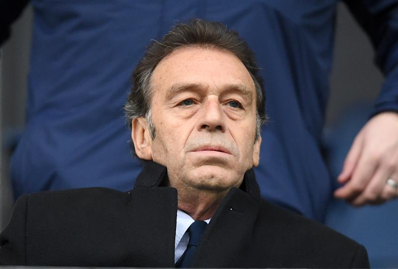 Leeds United's owner, Massimo Cellino in the stands.
