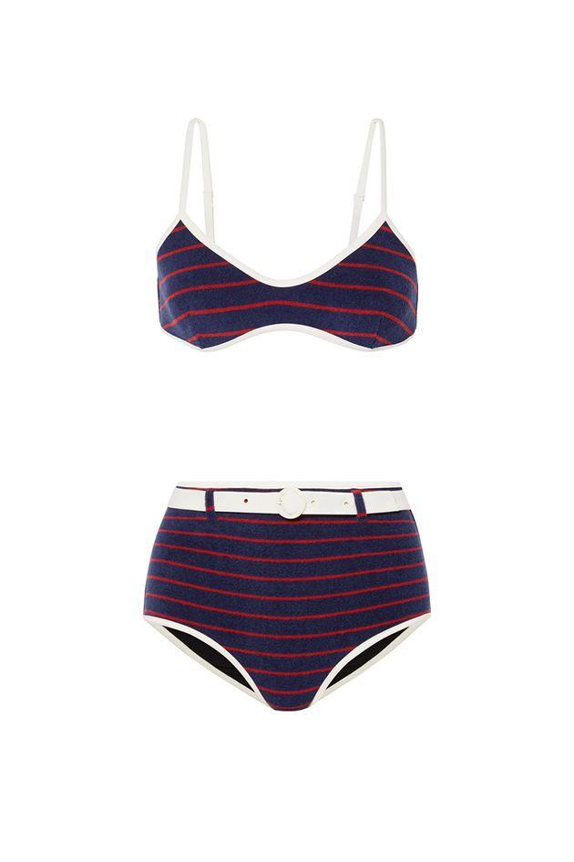 """<p>Stand out from the obligatory assortment of American flag bikinis with a still-on-brand nautical two-piece from <a href=""""https://www.crfashionbook.com/fashion/a21082488/solid-and-striped-west-coast-los-angeles-redone-collaboration/"""" target=""""_blank"""">Solid & Striped's collaboration with Re/Done</a>. <br></p><p><em>The Nantucket striped cotton-blend terry bikini top, $88</em></p><a class=""""body-btn-link"""" href=""""https://go.redirectingat.com?id=74968X1596630&url=https%3A%2F%2Fwww.net-a-porter.com%2Fus%2Fen%2Fproduct%2F1159488%2Fsolid___striped%2F--re-done-the-nantucket-striped-cotton-blend-terry-bikini-top&sref=http%3A%2F%2Fwww.crfashionbook.com%2Ffashion%2Fg28277973%2Fsouthampton-fourth-of-july-style-guide%2F"""" target=""""_blank"""">SHOP</a><br><em><br>The Nantucket belted striped cotton-blend terry bikini briefs, $88</em><br><br><a class=""""body-btn-link"""" href=""""https://go.redirectingat.com?id=74968X1596630&url=https%3A%2F%2Fwww.net-a-porter.com%2Fus%2Fen%2Fproduct%2F1159489%2Fsolid___striped%2F--re-done-the-nantucket-belted-striped-cotton-blend-terry-bikini-briefs&sref=http%3A%2F%2Fwww.crfashionbook.com%2Ffashion%2Fg28277973%2Fsouthampton-fourth-of-july-style-guide%2F"""" target=""""_blank"""">SHOP</a>"""