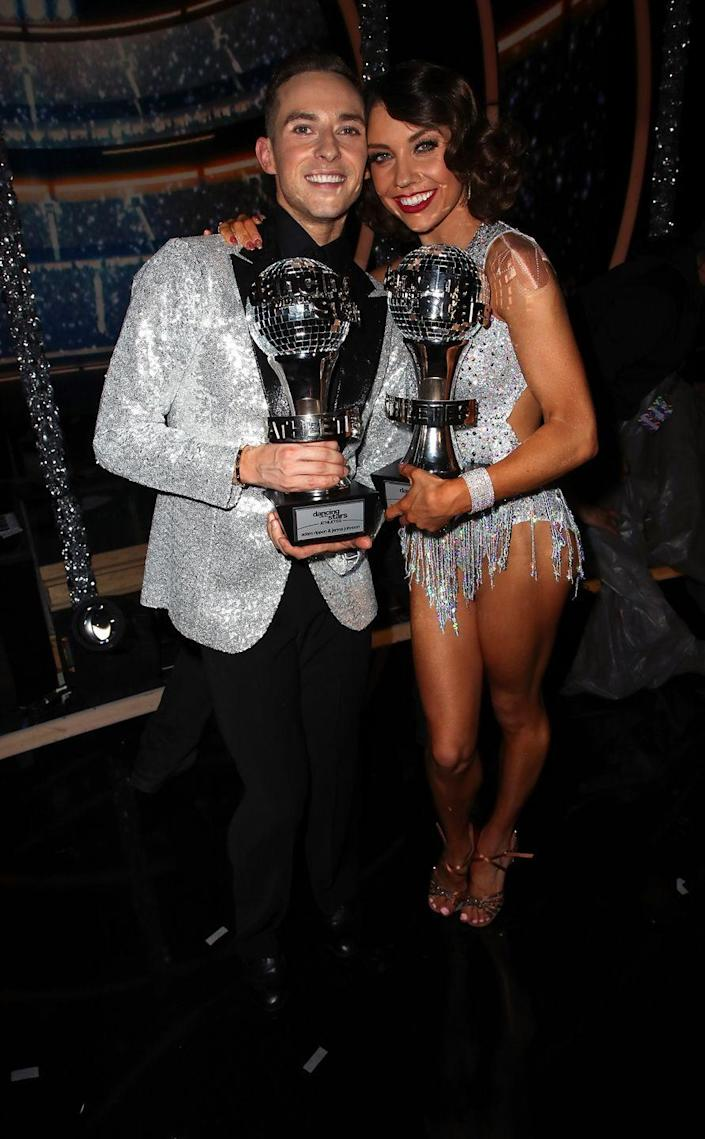 """<p><strong>Season: </strong>26</p><p><strong>Runners-up: </strong>Josh Norman & Sharna Burgess</p><p><strong>About Adam: </strong>Adam Rippon is your/my/everyone's favorite Olympic figure skater, <a href=""""https://www.cosmopolitan.com/entertainment/celebs/a22861880/adam-rippon-tastes-celebrity-rose/"""" rel=""""nofollow noopener"""" target=""""_blank"""" data-ylk=""""slk:pop culture expert"""" class=""""link rapid-noclick-resp"""">pop culture expert</a>, and person who can rock TF out of a fashion harness at the Oscars.</p>"""