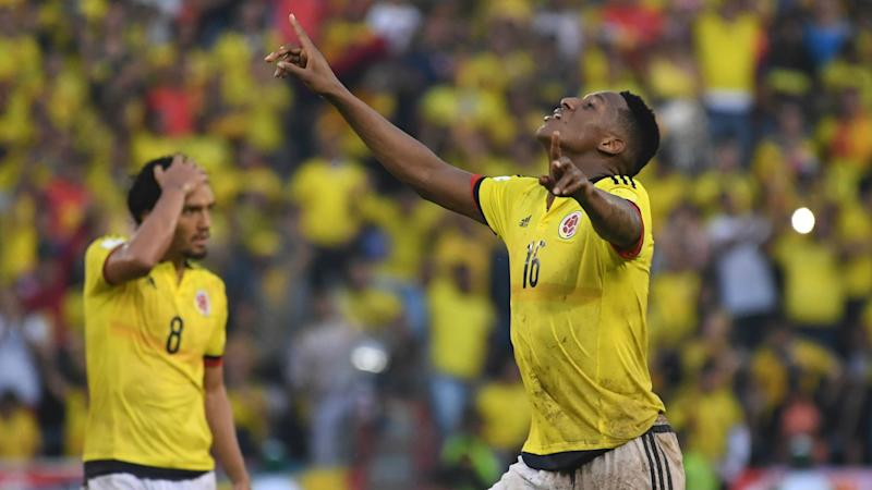 Colombia 2-2 Uruguay: Mina secures draw for hosts in World Cup qualifier