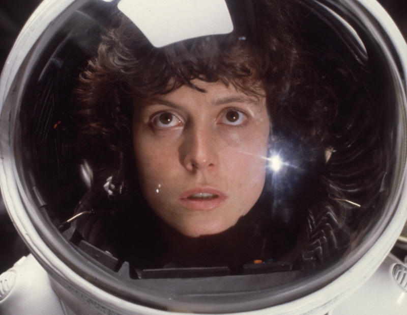 Sigourney Weaver in the role of Ripley in the film 'Alien'. (Photo by Hulton Archive/Getty Images)
