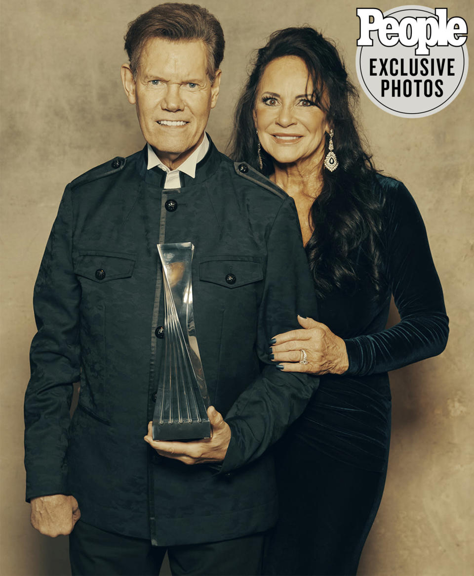 """<p>The <a href=""""https://people.com/country/randy-travis-storms-of-live-deluxe-edition/"""" rel=""""nofollow noopener"""" target=""""_blank"""" data-ylk=""""slk:country legend"""" class=""""link rapid-noclick-resp"""">country legend</a> was named artist of a lifetime.</p>"""