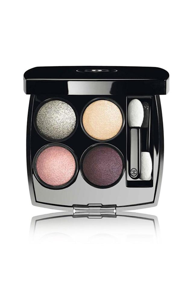 "<p>Chanel's four-shade, pressed-powder compacts are known for their vibrant colors, layer-ability, and shimmery finish. (This one comes with super versatile colors, in a jewel tone, a shimmery silver, flattering yellow, and a warm peachy pink.)</p><p><strong>Chanel Les 4 Ombres Multi-Effect Quadra Eyeshadow in 'Tisse Dimensions,' $61</strong><strong>; <a rel=""nofollow"" href=""http://shop.nordstrom.com/s/3803574?pathAlias=chanel-les-4-ombresmulti-effect-quadra-eyeshadow&contextualcategoryid=0&origin=category-personalizedsort&resultback=511&siteId=QFGLnEolOWg-Lzkw1ObbhrAa.RoCtoh8WA&cm_mmc=Linkshare-_-partner-_-15-_-1"">nordstrom.com</a>.</strong></p>"